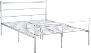 Best white metal headboard double bed Reviews