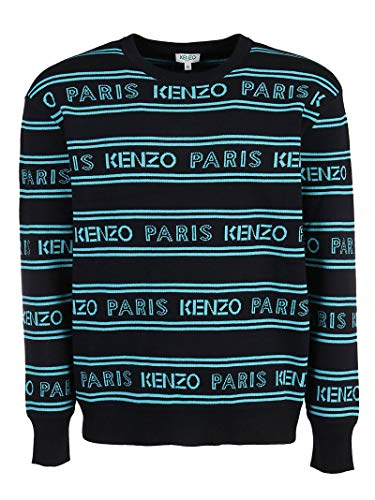 Luxury Fashion | Kenzo Heren FA55PU5063LD99 Zwart Katoen Truien | Lente-zomer 20