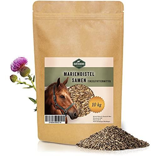 Martenbrown® 10kg Mariendistelsamen zur Leberentgiftung & Stoffwechsel Kur bei Pferden, Hunden & Katzen - ganze Mariendistel Samen ohne Zusatzstoffe - 100% Naturprodukt