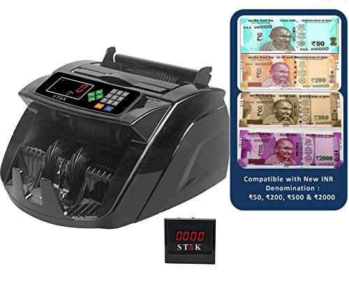 Bambalio BEE-3900 Notes Counting Machine With Fake Note Detector & LCD Display-1 Year Warranty (Compatible With All Denominations