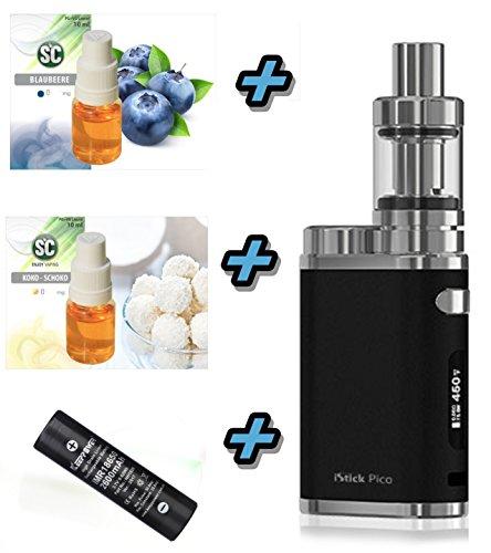 E-Zigarette SC produced by Eleaf Pico iStick 75W Starterset 2600mAh | TC (Temperaturregelung) mit Keepower Akku | mit SC Liquids - 00mg Rauchen ohne Nikotin