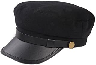 Unisex Vintage Cosplay Japanese Student Black Hat Cap Chauffeur Limo Driver Hat Flat Cap