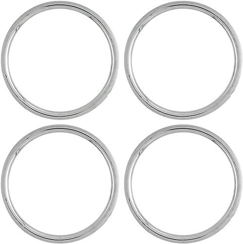OxGord Trim Rings 17 inch Diameter (Pack of 4) Flat ABS Plastic Beauty Rims Wheel Hub