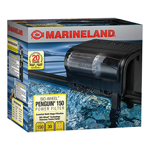 Marineland Penguin Bio-Wheel Power Filter 150 GPH, Multi-Stage Aquarium...