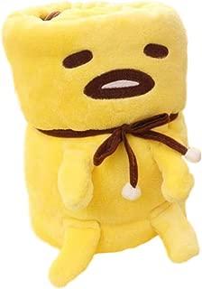 GK-O Anime Gudetama Plush Blanket Yellow Lazy Egg Yolk Roll Air Condition(Large)