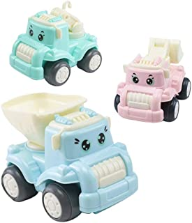 3PCS 5PCS 7PCS 2019 Innovation Inertia Car Toys Set Friction Powered Push Plastic Cartoon Vehicle Toddler Early Educational Toys for Children Boys Girls