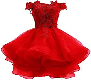 Women's Short Prom Party Dress Off Shoulder Homecoming Dresses for Juniors Ball Gown