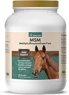 NaturVet – MSM (Methylsulfonylmethane) Pure Powder for Horses – Supports Healthy Cartilage, Tissue & Joint Flexibility