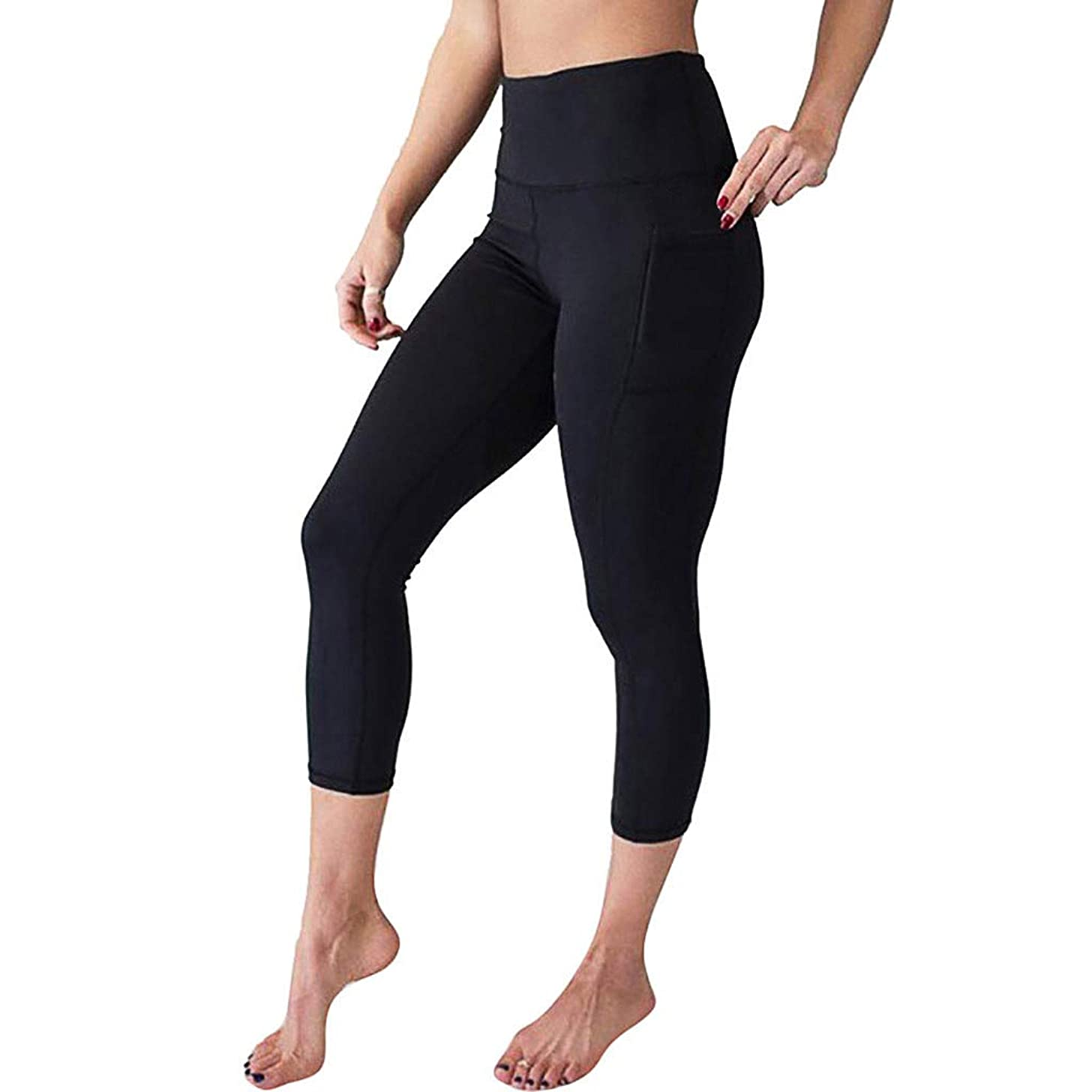 Womens Yoga Pants with Pockets Gibobby High Waist Yoga Leggings Tummy Control Workout Running Leggings for Sports Gym