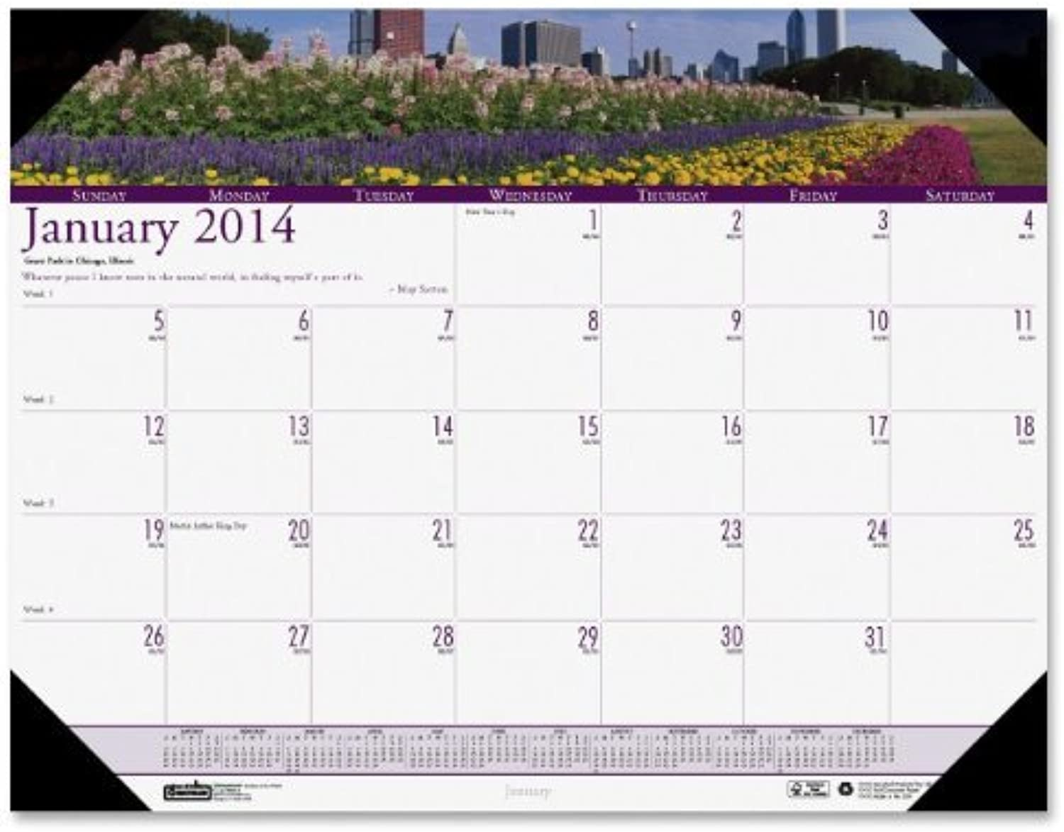 House of Doolittle Earthscapes Gardens of The World Desk Pad Calendar 12 Months January 2014 to December 2014, 22 x 17 Inches, Recycled (HOD174) by House of Doolittle B0141N4B1U | Verschiedene Arten und Stile