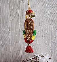Itiha Nettipattam Ceremonial Headgear for the Elephants ethnic showpiece with Lord Ganesha & Vishnu Multicoloured Wall Dec...