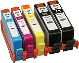 Sumedtec - Pack 5 x 364XL Cartuchos de Tinta Reemplazo para HP 364 364 XL Tinta para HP Photosmart 5510 5520 5522 6520 7510 7520 5524 6510 5515 B010a B109a, Officejet 4620 4622, Deskjet 3520 3070A