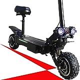 FZ FUTURE Scooter eléctrico Plegable para Adultos, 90-110mph Top Speed, 150 Millas Distancia máxima, portátil y Plegable con neumáticos de Servicio Pesado Off-Road, Asiento extraíble,28.8ah