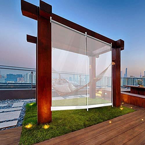 HYDT Store en bambou Gartenterrasse im Freien Klare Rollläden, Wasserdicht Staubdicht Transparente PVC-Kunststoff-Jalousien für Balkon Gewächshaus (Size : 100×240cm(39.4 in×94.5 in))