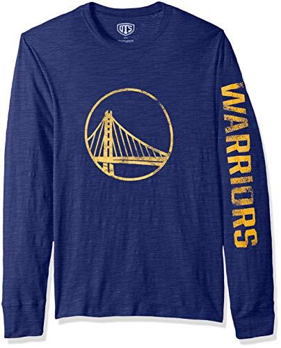 OTS NBA Golden State Warriors Men's Slub Long Sleeve Team Name Tee, Alternate Distressed Sinclair, Medium