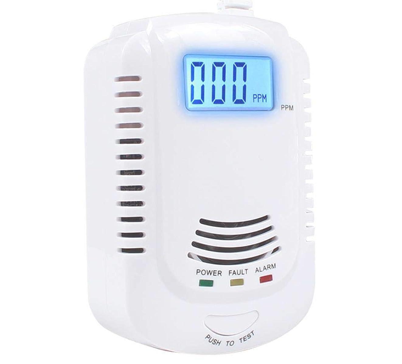 海軍種類地中海Twaxl プラグイン式爆発性ガス検知器2 in 1、家庭用キッチンメタン、プロパン、化合物アラーム、充電式または9V充電式バッテリー(別売)LEDディスプレイ付き音声アラーム