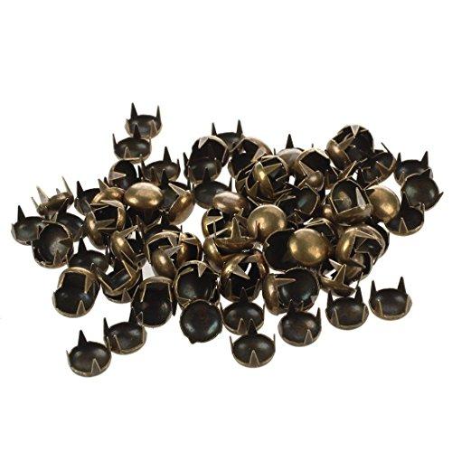 TOOGOO(R) 100x 7mm Rundnieten Kegelnieten Bronze Ziernieten zum DIY Basteln