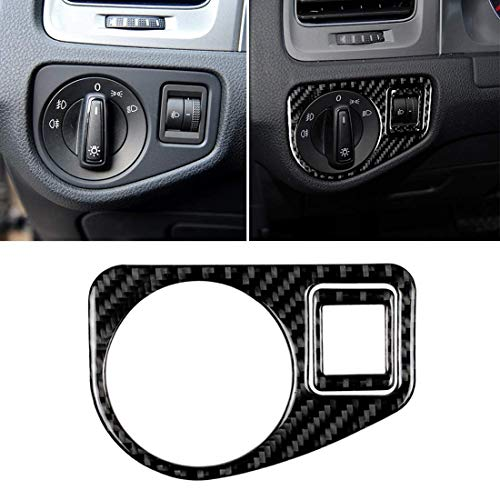 SIMNO JIAHONG Interruptor de Coches de Fibra de Carbono Faro Panel Decorativo Pegatina FOR For Volkswagen Golf 7 2013-2017 Duradero Decorativo