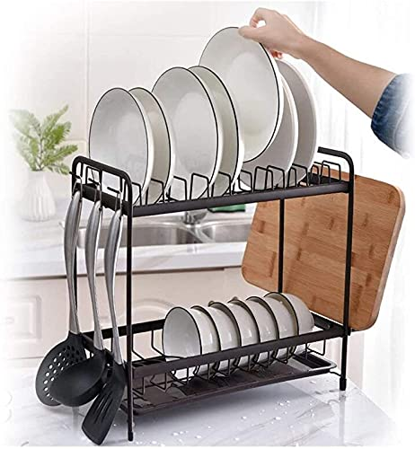 ZBYY Escurridor para fregadero de cocina, escurridor de encimera, caja de almacenamiento de vajilla, caja de almacenamiento para encimera de cocina, con bandeja de drenaje de cajón