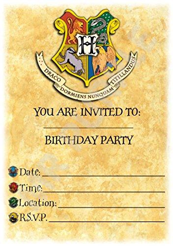 Inviti di compleanno a tema Harry Potter,con stemma di...