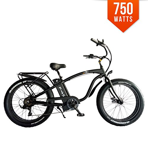 BPM F45 750W 13AH 48V 26' Fat TIRE Electric Bike Bicycle Rack Beach-Cruiser