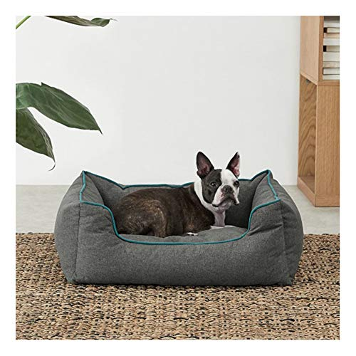 Grote hondenbed, rechthoekig, hondensofa, orthopedisch hondenkussen, wasbaar, huisdierbed, slapen, anti-slip, hondenmand, matras, middelgrote en grote honden of meerdere Small grijs