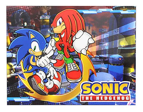 "Great Eastern GE-57718 Sonic The Hedgehog Sonic and Knuckles Throw Blanket 46""x60"""