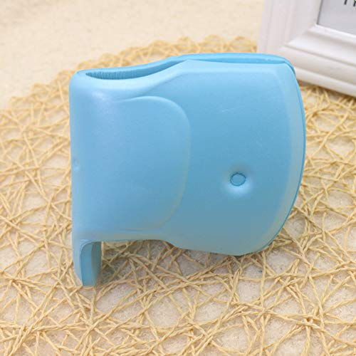 BeesClover Cubierta del Grifo del baño del Elefante Cubierta del Grifo para la protección del Protector del Extensor del Grifo de la bañera del baño del bebé de la Seguridad para el bebé Azul