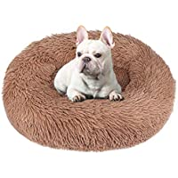 BABYLTRL Dog Bed Cat Comfortable Cuddler Round Calming Bed Donut
