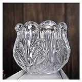 YZYUAN Cenicero de cristal epoxi molde de resina candelabro de cristal caja de almacenamiento cenicero multifuncional espejo cenicero al aire libre