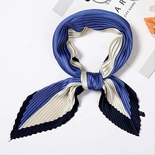 Afht-Vrouwen Zijde Sjaal Vierkant Elegante Nek Sjaals Mode Print Crinkle Sjaals Voor Dames Haarband Vrouwelijke Zakdoek