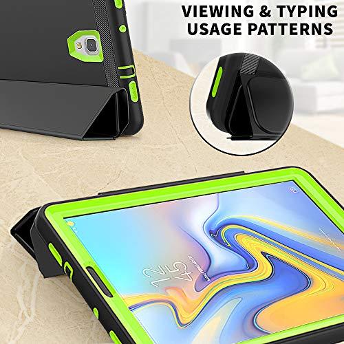 DAORANGE Hülle für Samsung Galaxy Tab A 10.5 SM-T590/T595,Stoßfeste Schutzhülle Case Cover mit Auto Schlaf/WachenFunktion Ständer für Samsung Galaxy Tab A SM-T590 SM-T595 10.5 Zoll 2018 (Schwarz+Grün)