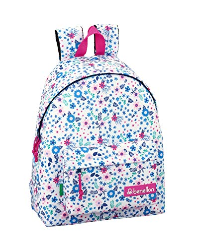 Day Pack Infantil Benetton UCB In Bloom White Oficial 330x150x420mm