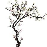 LOMJK Árbol Artificial Magnolia Flores de Seda Flores Falsas de Olla de árboles Adornos de Flores Falsos Grandes para la Oficina Interior al Aire Libre (tamaño : 150cm 59'')