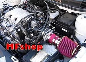 1999 2000 2001 2002 2003 2004 2005 Pontiac Grand AM 3.4L V6 GT GT1 SE1 SE2 Air Intake Filter Kit System (Red Filter Accessories)