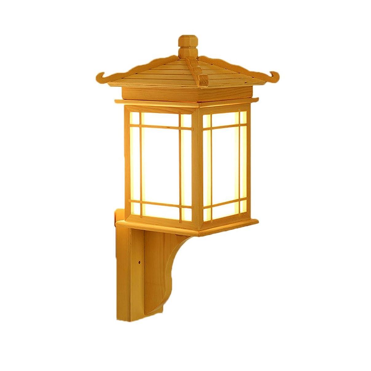 LIGUANGWEN 導かれた北ヨーロッパの純木の壁の壁取り付け用燭台の家の形の壁ランプの居間の寝室のヘッドボードの通路のバルコニーの壁の照明設備のための居間の寝室の廊下 壁灯
