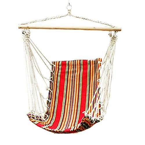 Camping Hängematte, Schaukel & Hängesessel Hängeseil Schaukel Sitz für drinnen & draußen  Soft & Durable Reading Chair Schaukelstühle (Farbe: Orange, Größe