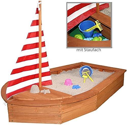 Sun Sandkasten Stiefel mit Segel und Abdeckplane Sandkiste Holzsandkasten by Woodinis