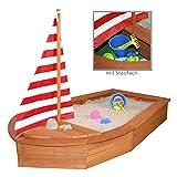 Sun Sandkasten Boot mit Segel und Abdeckplane Sandkiste Holzsandkasten by Woodinis