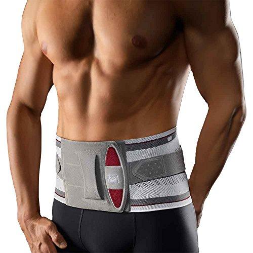 BORT select Stabilo® Rückenbandage mit Pelotte, Gr. 4, silber