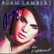 Adam Lambert signed For Your Entertainment cd