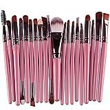 Gocheaper 20 pcs Makeup Brush Set tools Cosmetic Makeup Brush Brushes Set Foundation Powder Eyeshadow Toiletry Kit Wool (Pink)