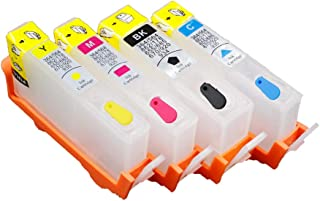 UniPrint 4pcs for hp364 HP 364 364XL Refillable Ink Cartridges with Permanent Chip 3070A B209a B210A 5515 B010a B109d B109a B110c 5520