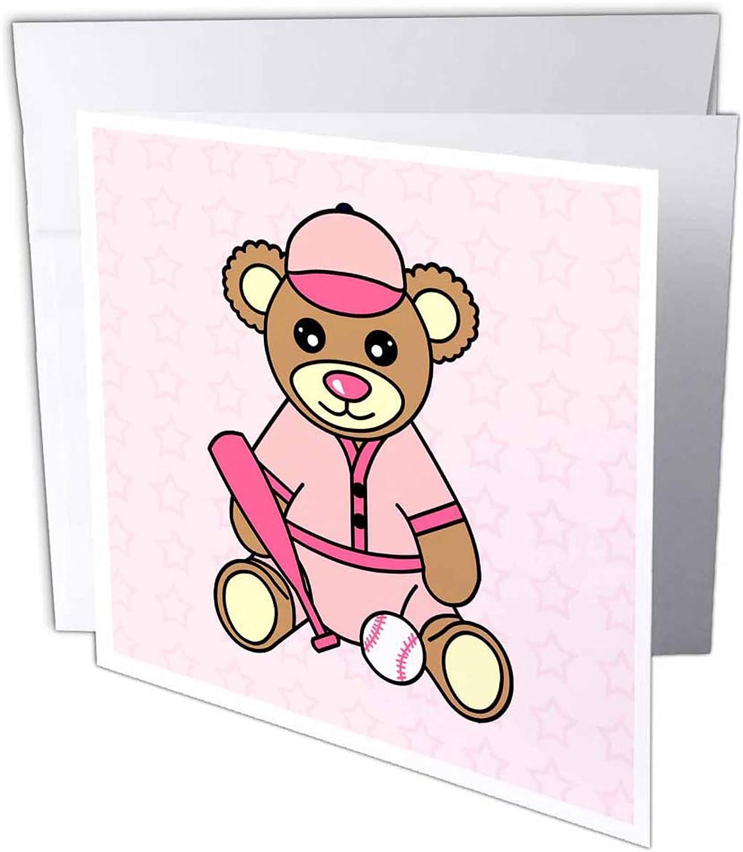 3dRosa gc_15395_1 Grußkarte mit Teddybär-Motiv, 15,2 x x x 15,2 cm, 6 Stück B07BJCNQQQ | Ausgezeichnetes Handwerk  47383b