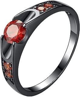 winsopee Women Zircon Micro Inlay Jewelry Rings Popular Round Couple Wedding Jewelry Gift Girlfriend