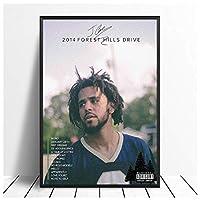 Ipea Jコール2014フォレストヒルズドライブラップアルバム音楽絵画ポスターキャンバス家の装飾写真壁アートプリント(19.69X29.52インチ)50X75Cmフレームなし
