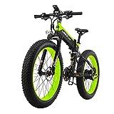 Electric Moped Bicycle Electric Folding Aluminum Mountain/City/Road Bike with 40km/h 48V 500W/1000W Motor 26 x 4 Inch Fat Tires 80Km Autonomy Shimano 27 Speeds for Men Women [EU STOCK]