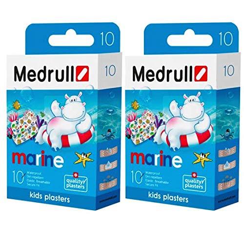 Medrull kinderpleister Sensitiv MARINE 2-pack (2 x 10 stuks)