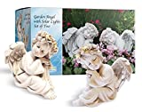 HAPPY COMPOST 2 Angel Solar Light Garden Statues 6'- Handmade Garden Decor with Halo LED lights Angel Figurines. Batteries Included. Great for Outdoor Decor or Patio Decor. Memorial or Spiritual Gifts