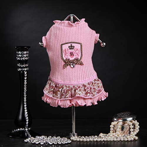 Trilly Tutti Brilli Nyu jurk van wol Balza fantasie bloemen en patches Rosa, S - 1 product